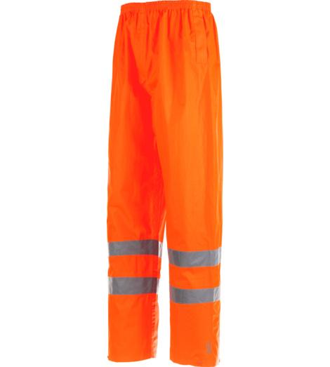 Foto de Pantalón de Trabajo Impermeable Alta Visibilidad 3/2 Naranja