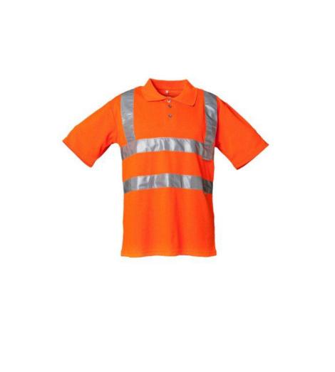 Foto von Warnschutz PLA Polo-Shirt orange