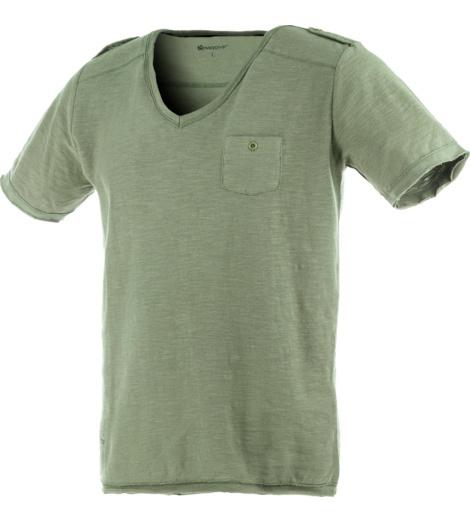 Foto van Modyf Street Style T-shirt Gevlamd Olijfgroen
