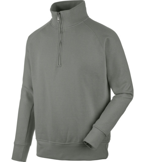 Foto von Sweatshirt Job + 1/2 zip grau smoke