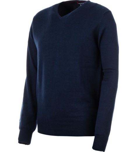 Photo de Pull col-V marine