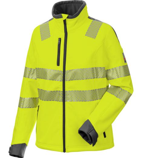 Foto von Warnschutz Softshelljacke Neon Damen gelb