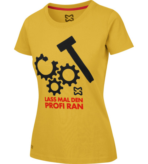 Foto von Arbeits T-Shirt Damen gelb