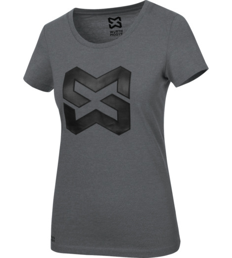 Foto von Arbeits T-Shirt Logo IV Damen anthrazit