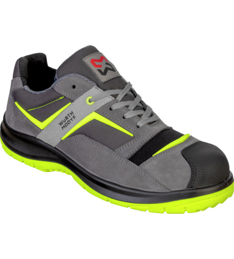 Photo de Chaussures de sécurité SB P E FO WRU Stretch X Electric grises/jaunes