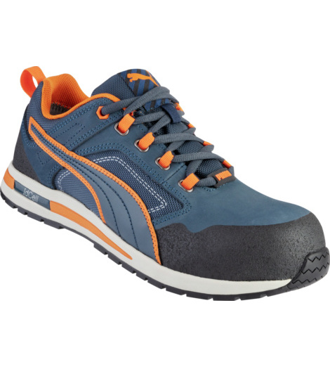 Photo de Baskets de sécurité Crosstwist S3 HRO SRC Puma Bleues/Oranges