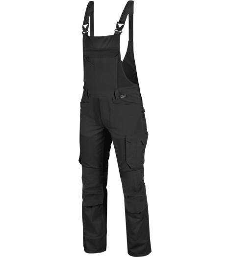 Praktische Handwerker-Latzhose, Latzhose Industriewäsche geeignet, Arbeitslatzhose schwarz, Latzhose Industrietrocknung geeignet