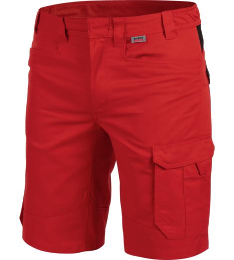 Metallfreie Shorts, Shorts für Elektriker, Shorts rot, Shorts mit praktischen Taschen, hautfreundliche Arbeitsshorts