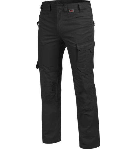 Hochwertige Berufshose, langlebige Berufshose, Berufshose ISO 15797, schwarze Berufshose, lange Berufshose