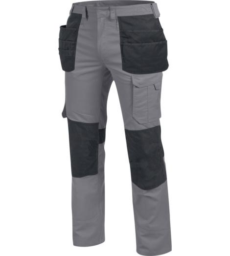 Hochwertige Bundhose, metallfreie Bundhose, langlebige Bundhose, Bundhose mit vielen praktischen Taschen, Bundhose mit Holstertaschen, Bundhose grau