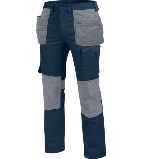 Kratzfreie Bundhose, metallfreie Bundhose, blaue Bundhose, Bundhose ISO 15797, Bundhose für Industriewäsche, lange Bundhose