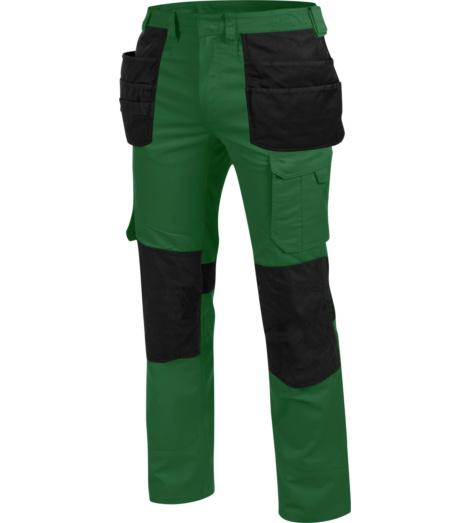 Metallfreie Berufshose, Berufshose mit Holstertaschen, Berufshose ISO 15797, Berufshose grün, Berufshose lang