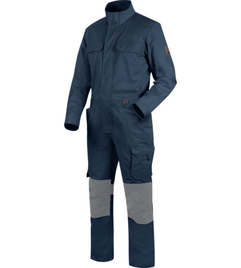 Blauer Blaumann, Blaumann Oeko-Tex® 100, Blaumann mit  Knietaschen EN 14404, Arbeitsoverall dunkelblau