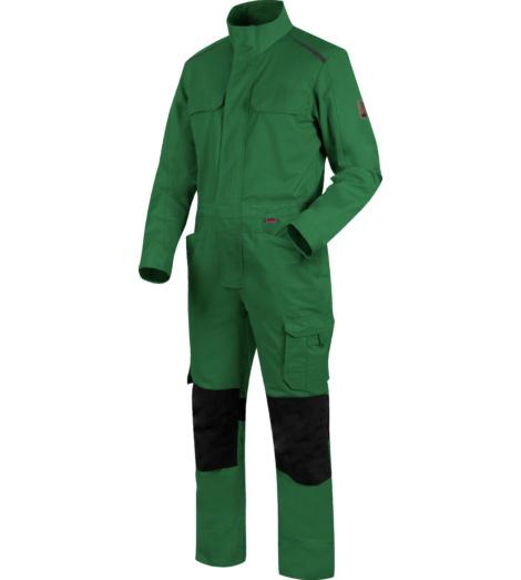 Hautfreundlicher Handwerker-Overall,  metallfreier Handwerker-Overall, Handwerker-Overall in bester Qualität, grüner Arbeitsoverall