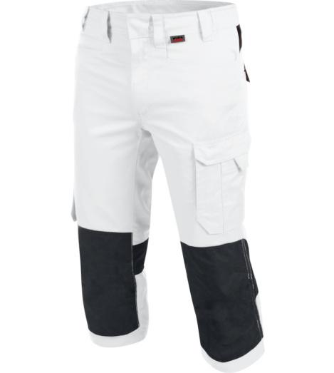 foto di Pantalone da lavoro 3/4 bianco
