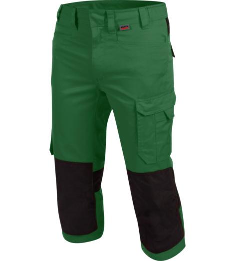 Langlebige 3/4-Arbeitshose, komfortable 3/4-Arbeitshose, 3/4-Arbeitshose ISO 15797, Piratenhose mit vielen Taschen, 3/4-Arbeitshose Industriewäsche geeignet, 3/4-Arbeitshose für Gärtner