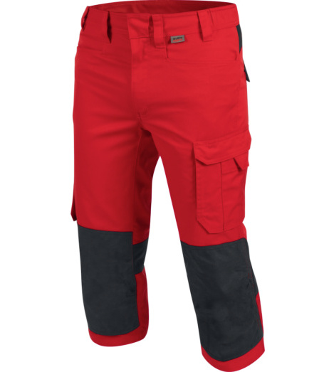 Metallfreie Piraten-Arbeitshose, 3/4-Arbeitshose OEKO TEX 100, 3/4-Arbeitshose für Elektriker, 3/4-Arbeitshose rot, widerstandsfähige Piratenhose