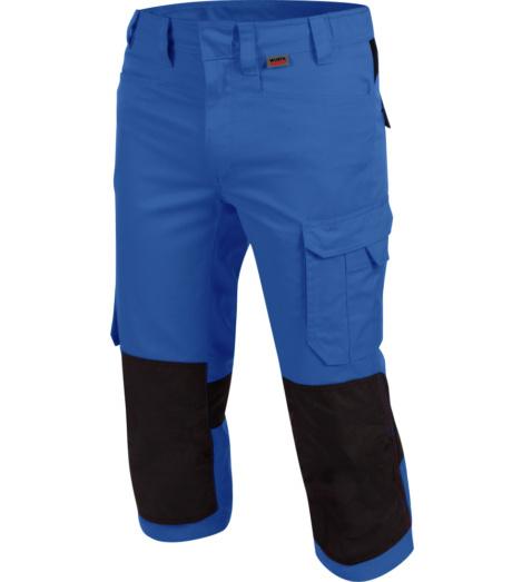 Bequeme Piratenhose, praktische Piratenhose, Piratenhose  ISO 15797, Piratenhose mit funktionellen Details, hochwertige 3/4-Arbeitshose, 3/4-Arbeitshose blau