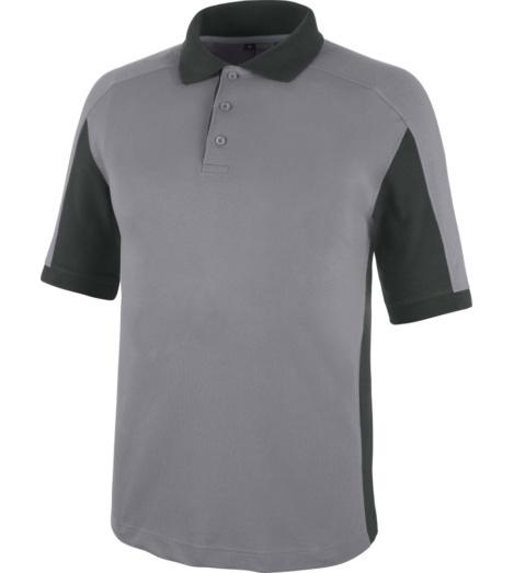 Sportliches Arbeits-Polo, Arbeits-Polo mit weichem Tragekomfort, Arbeits-Polo ISO 15797, modernes Poloshirt, Poloshirt grau