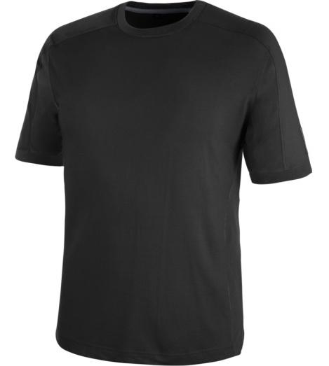 Arbeits-T-Shirt für industrielle Reinigung, Arbeits-T-Shirt für industirelle Trocknung geeignet, Arbeits-T-Shirt schwarz, weiches T-Shirt