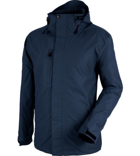 Atmungsaktive & leichte Arbeitsjacke, herausnehmbare Fleecejacke &  Kapuze ausgestattet