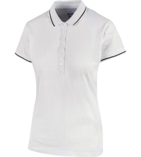 foto di Polo donna Jersey X bianca