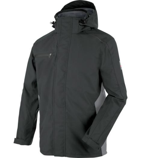 Hautfreundliche Regen-Arbeitsjacke, Regenjacke mit praktischen Taschen, Regenjacke anthrazit
