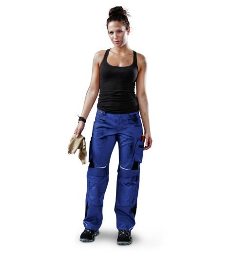 Foto von Damen Arbeitshose Pulsschlag Kornblau, Schwarz