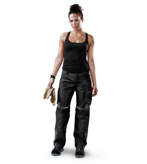 Foto von Damen Arbeitshose Pulsschlag Schwarz, Anthrazit
