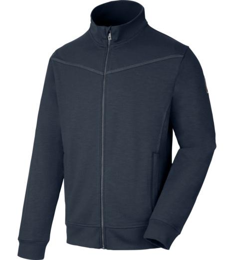 Langlebige Sweatjacke mit hohem Tragekomfort, praktische Taschen, ideal für Sanitär, Elektro und Installation