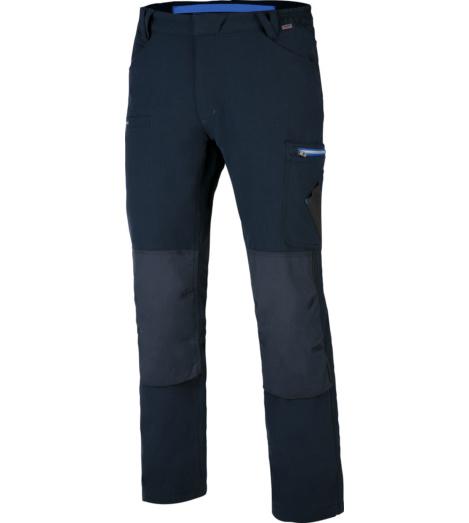 Praktische Bundhose, Arbeitshose mit innovativem Stretch-Material, mit abriebfesten und wasserabweisenden Knietaschen, EN 14404 ausgestattet