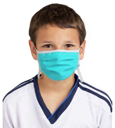 Foto von Waschbare Mundschutzmasken für Kinder kobaltblau 5 stück