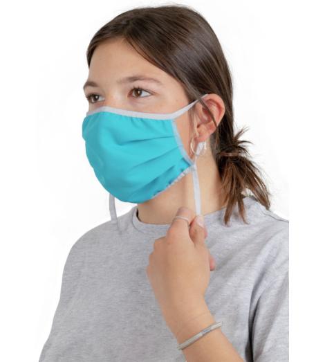 Foto von Waschbare Mundschutzmasken kobaltblau 10 stück