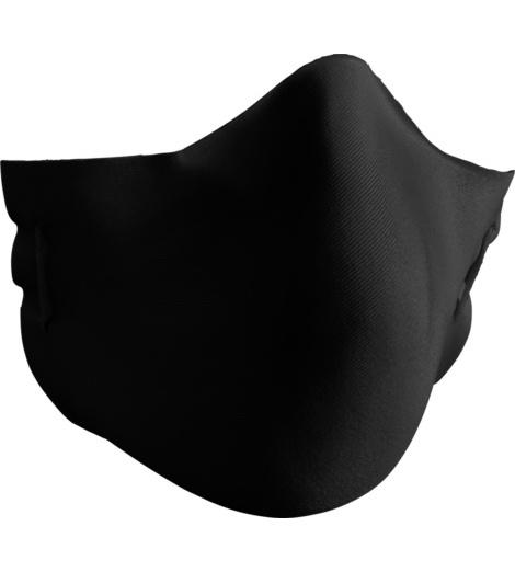 Trageangenehme Mund-Nasen-Maske in Schwarz im praktischen 5er Pack, wiederverwendbar und waschbar bei 60 Grad Normalwäsche