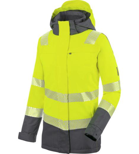 Wasserdichte Winterjacke in Neon Gelb für Damen, Bequemer Tragekomfort, Stretch-Material