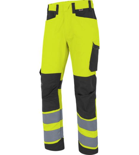 Photo de Pantalon de travail Fluo Industriel Haute-Visibilité Würth MODYF Jaune/Anthracite