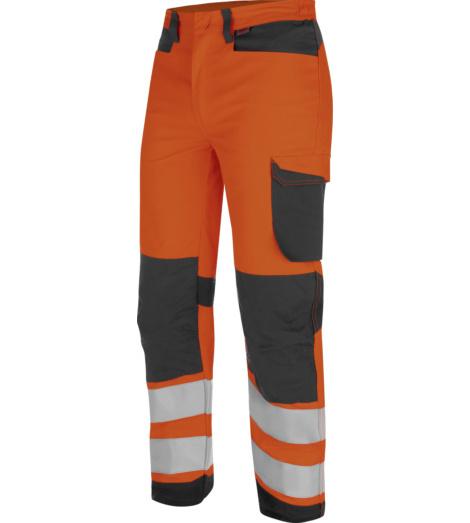 Photo de Pantalon de travail Fluo Haute-Visibilité Würth MODYF Orange/Anthracite