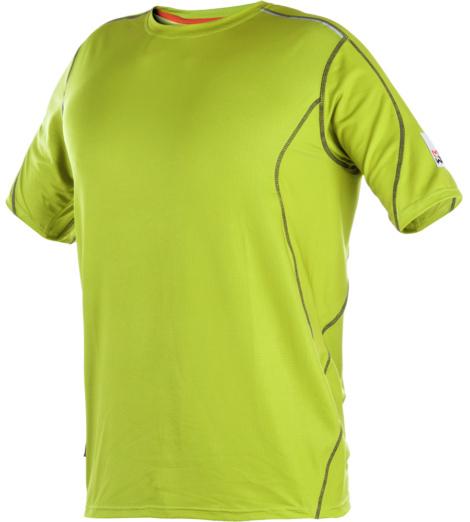 Arbeitsshirt mit Sonnenschutz, schnell trocknend, leicht und elastisch, Farbe Lime, funktionell, reflektierende Einsätze, reduziert Schweiß