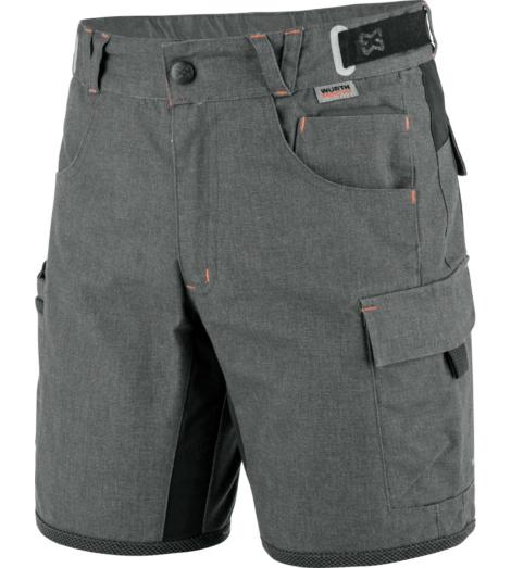 Robuste & bequeme Shorts für Kinder in Grau, schnell trocknend, elastisch, reflektierende Einsätze