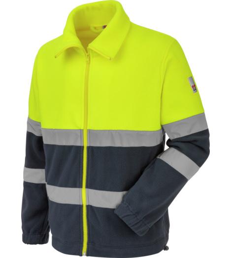 Foto van Würth MODYF high-visibility werkfleecetrui, geel/marineblauw