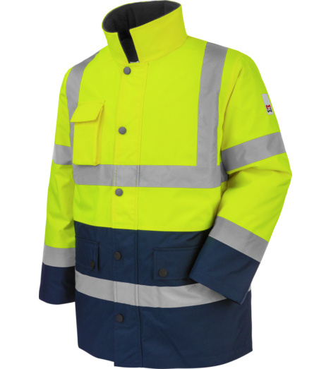 Photo de Parka de travail Würth MODYF haute-visibilité jaune/marine