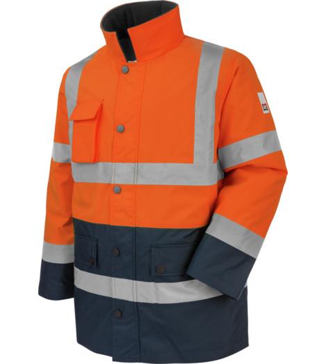 Photo de Parka de travail Würth MODYF haute-visibilité orange/marine