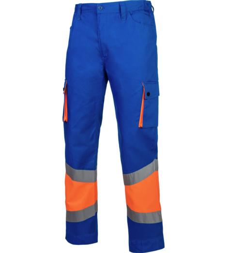 Foto de Pantalón de Trabajo Térmico Alta Visibilidad 1/2 Naranja/Real