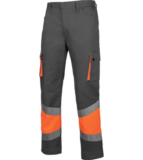 Foto de Pantalón de Trabajo Térmico Alta Visibilidad 1/2 Naranja/Gris