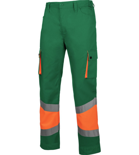 Foto de Pantalón de Trabajo Térmico Alta Visibilidad 1/2 Naranja/Verde