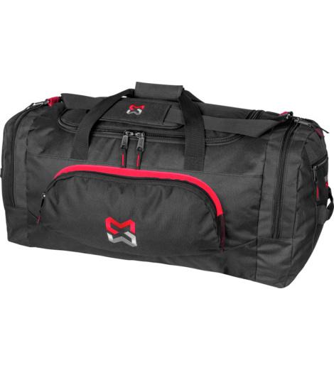 Geräumige & praktisches Sportbag Schwarz, modernes Design, robustes AMterial, aus Polyester