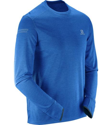 foto di T-shirt uomo Salomon Park LS Tee blu