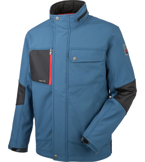 foto di Giacca in Softshell blu Nature
