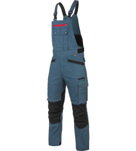 Praktische und moderne Arbeitslatzhose in Blau, mit Knieverstärkungen EN 14404, aus Baumwolle-Mischgewebe, sehr strapazierfähig