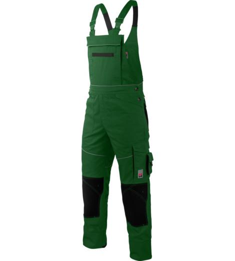 Praktische, funktionelle und stylische Arbeitslatzhose, grün, robust und strapazierfähig, EN 14404, geeignet für Gärtner